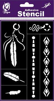 Szablon, indiańska biżuteria-Ki-Sign