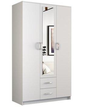 Szafa TOPESHOP Romana lustro, biała, 120x205 cm-Topeshop