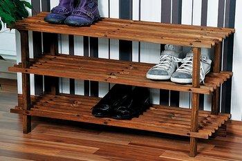 Szafka na buty drewniana KESPER, brązowa, 26x40x77 cm-Kesper