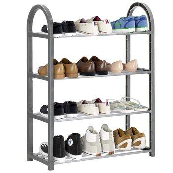 Szafka na buty z metalowymi 4 półkami regał ciemnoszary-Springos