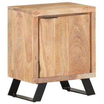 Szafka nocna 40x30x50 cm, drewno akacjowe z naturalną krawędzią-vidaXL