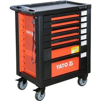 Szafka serwisowa na kółkac YATO YT-55290, + narzędzia, 211 szt., 98x77x46,2 cm-YATO