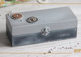 Szkatułki z metalicznym połyskiem - stwórz swoje miejsce na skarby