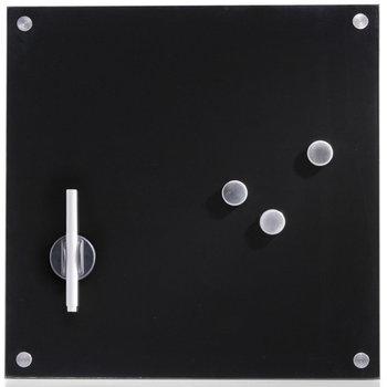 Szklana tablica magnetyczna Memo, czarna -Zeller