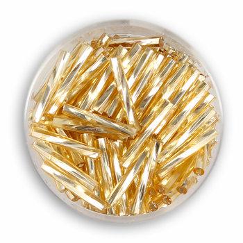 Szklane patyczki, złote, 12 mm, 15 g