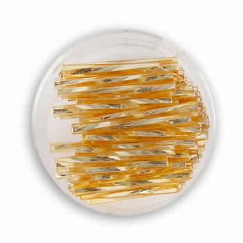 Szklane patyczki, złote, 25 mm, 15 g