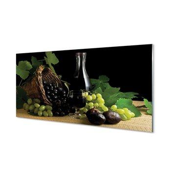 Szklany panel Kosz liście winogrono wino 120x60 cm-Tulup