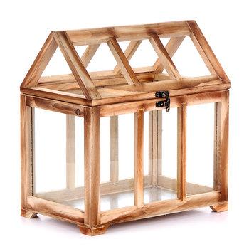 Szklarnia, drewniana, 28x18x30 cm-EMPIK S.A.
