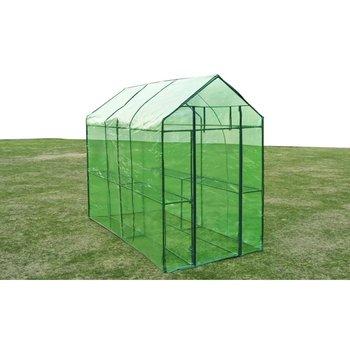 Szklarnia ogrodowa ze stalową ramą, zielona-vidaXL