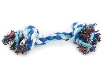 Sznur dla psa CHICO, niebiesko-biały, 26 cm-Chico