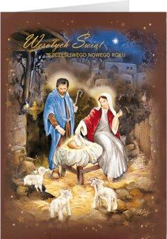 Szopka betlejemska kartka świąteczna z życzeniami BR-T 14-Czachorowski