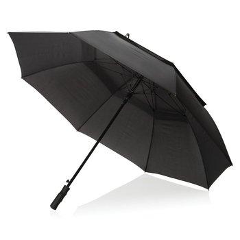 """Sztormowy, dwuwarstwowy parasol automatyczny Tornado 30"""" Czarny-SWISS PEAK"""