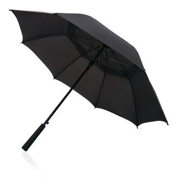 """Sztormowy parasol automatyczny Tornado 23"""" Czarny-SWISS PEAK"""