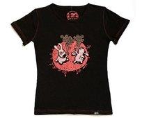 T-shirt damski z krótkim rękawem, Ujarane Zające