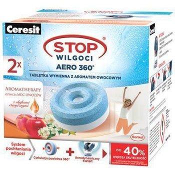Tabletki wymienne z aromatem owocowym do pochłaniaczy wilgoci CERESIT Stop wilgoci Aero 360°, 2 szt.-Henkel