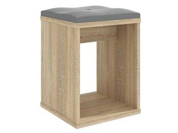 Taboret z siedziskiem do toaletki MEBLOWA 1, sonoma, 50x35x35 cm-Meblowa 1