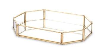 Taca szklana złota Rama 3,5x20x10 cm-Pigmejka