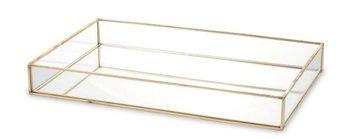 Taca szklana złota Rama 4x29,5x18,5 cm-Pigmejka