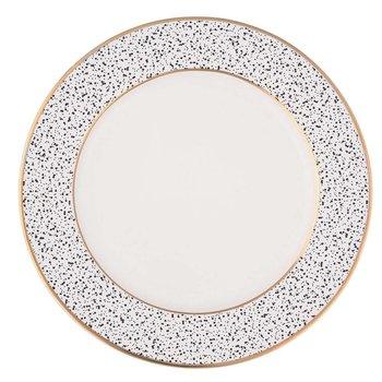 Talerz deserowy ALTOMDESIGN Granit, biały, 20 cm-Altom