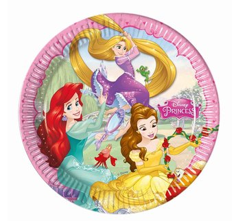 Talerzyki papierowe, Księżniczki Disneya, 23 cm, 8 sztuk-Procos