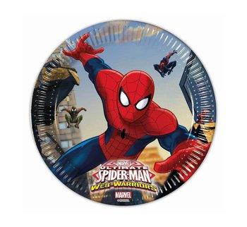 Talerzyki papierowe, Spiderman, 20 cm, 8 sztuk-Procos