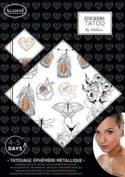 Tatuaże zmywalne, metaliczne pióra-Aladine