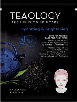 Teaology, Blue Tea, nawadniająca maseczka na twarz i szyję, 30 ml-Teaology