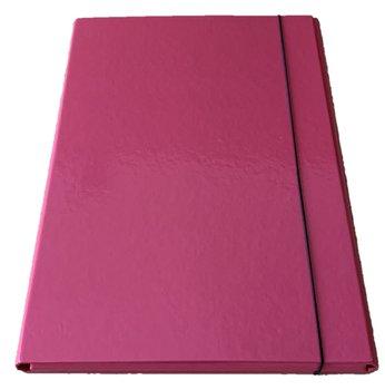 Teczka na gumkę, A4, różowa-CETUS-BIS