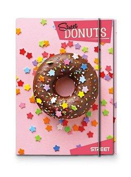 Teczka z gumką, A4, Donuts