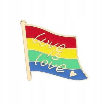 Tęczowa flaga przypinka Love is Love-Pinets