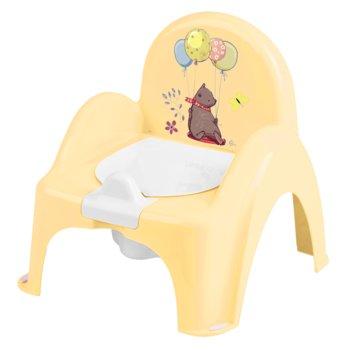 Tega Baby, Nocnik/Krzesełko z pozytywką, Leśna opowieść, Jasnożółty-Tega Baby