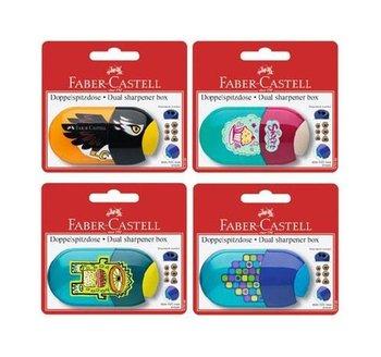 Temperówka z gumką do ścierania, mix wzorów-Faber-Castell