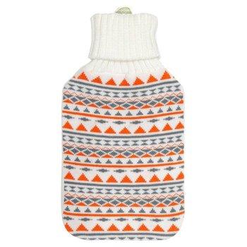Termofor 2L+ pokrowiec sweterek pomarańczowo kremowy - 3-STALMAN