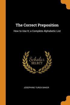 The Correct Preposition-Baker Josephine Turck