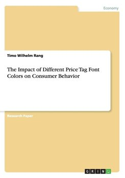 The Impact of Different Price Tag Font Colors on Consumer Behavior - Rang Timo Wilhelm