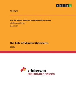 The Role of Mission Statements-Anonym