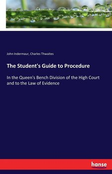 The Student's Guide to Procedure-Indermaur John