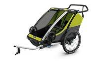Thule, Cab 2, Chariot, Wózek do biegania/Przyczepka rowerowa dla dziecka, podwójna, Oliwkowy/Szary-Thule