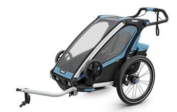 Thule, Chariot Sport 1, Wózek do biegania/Przyczepka rowerowa, Niebieski/Czarny-Thule
