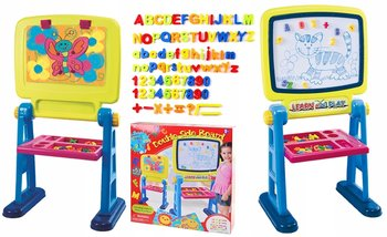 Tobi Toys, tablica edukacyjna dwustronna, 2w1 -Tobi Toys