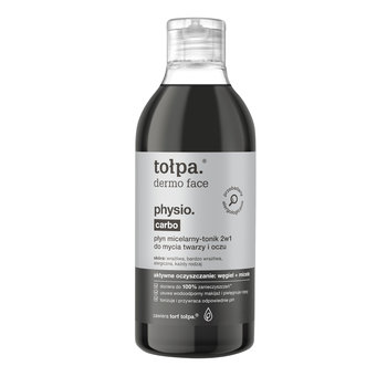 tołpa, dermo face physio carbo, płyn micelarny-tonik 2w1 do mycia twarzy i oczu, 400 ml-tołpa