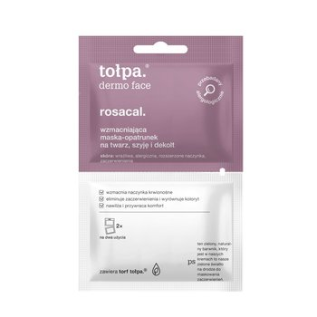 tołpa, dermo face rosacal, wzmacniająca maska-opatrunek na twarz, szyję i dekolt, 2x6 ml-tołpa