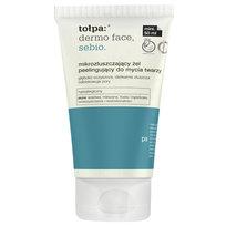 tołpa, dermo face sebio, mikrozłuszczający żel peelingujący do mycia twarzy, 50 ml