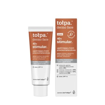 tołpa, dermo face stimular 40+, ujędrniający krem przeciwzmarszczkowy bogaty na dzień, SPF15, 40 ml-tołpa