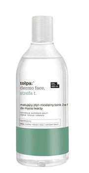 tołpa, dermo face strefa T, matujący płyn micelarny-tonik 2w1 do mycia twarzy, 400 ml-tołpa