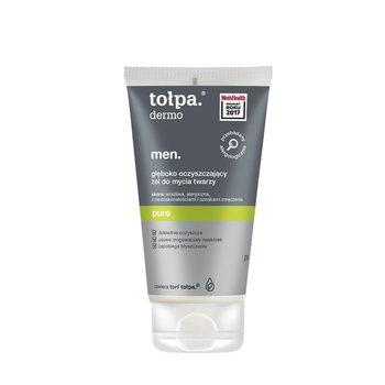 tołpa, dermo men pure, głęboko oczyszczający żel do mycia twarzy, 150 ml-tołpa