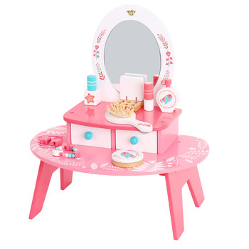 TOOKY TOY, zabawka edukacyjna Toaletka Drewniana Do Makijażu z Lustrem-Tooky Toy