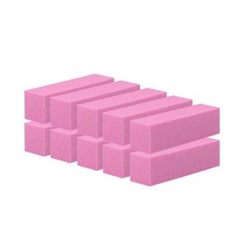 Tools For Beauty, blok polerski czterostronny, różowy,  10 szt.-Tools For Beauty