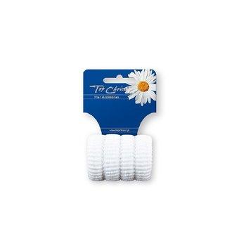 Top Choice Gumka do włosów karbowane białe (22616)  1op.-4szt-Top Choice