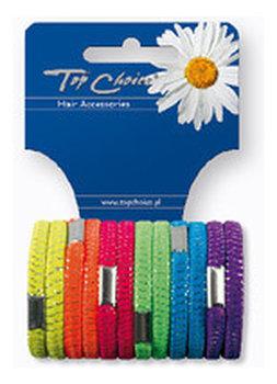 Top Choice, gumki do włosów Neon, 12 szt.-Top Choice